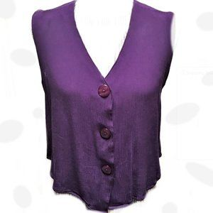 Forenza Vintage Purple V-neck Sleeveless Top Comfy